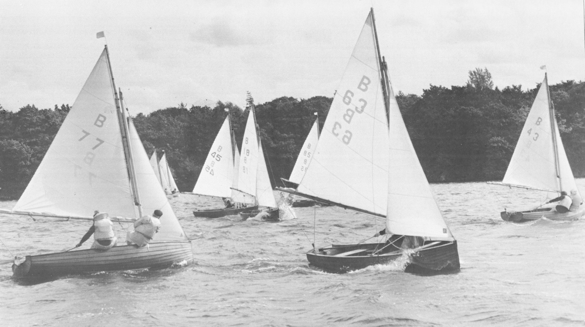 Norfolk Dinghies in action at Wroxham Broad Sep 1981