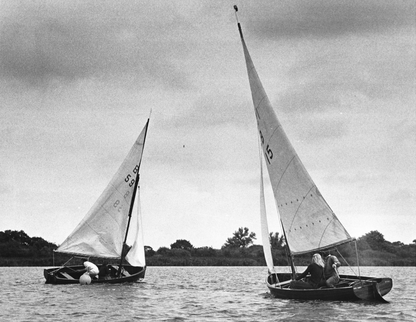 Norfolk Dinghy Championships 1975 - 1st. B59 M Broom 2nd. B15 D Mackley